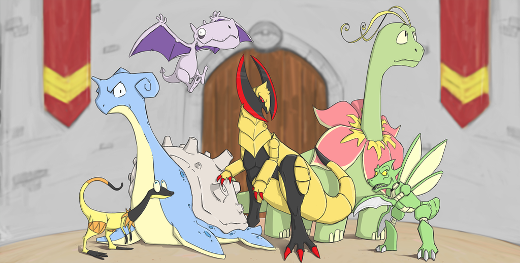 Dino Pokemon Team by Phewcumber