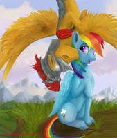 A Kiss for Rainbow Dash by GreenBrothersArt