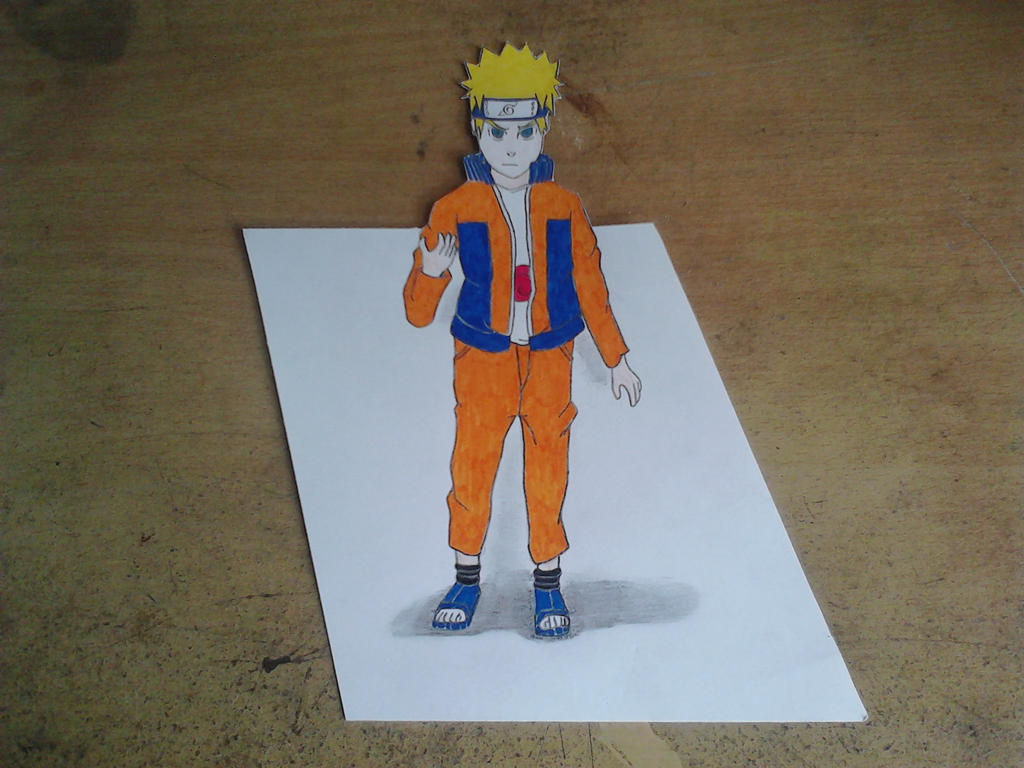 Naruto 3d drawing by mpahmi
