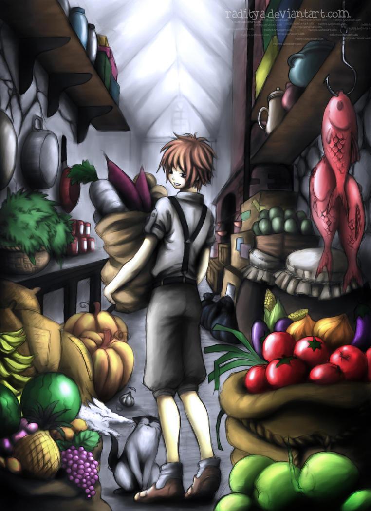 Dapur plus gudang makanan by raditya