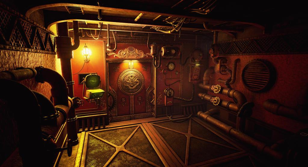 Ste&unk Dragon Door Environment by Falconssj ... & Steampunk Dragon Door Environment by Falconssj on DeviantArt