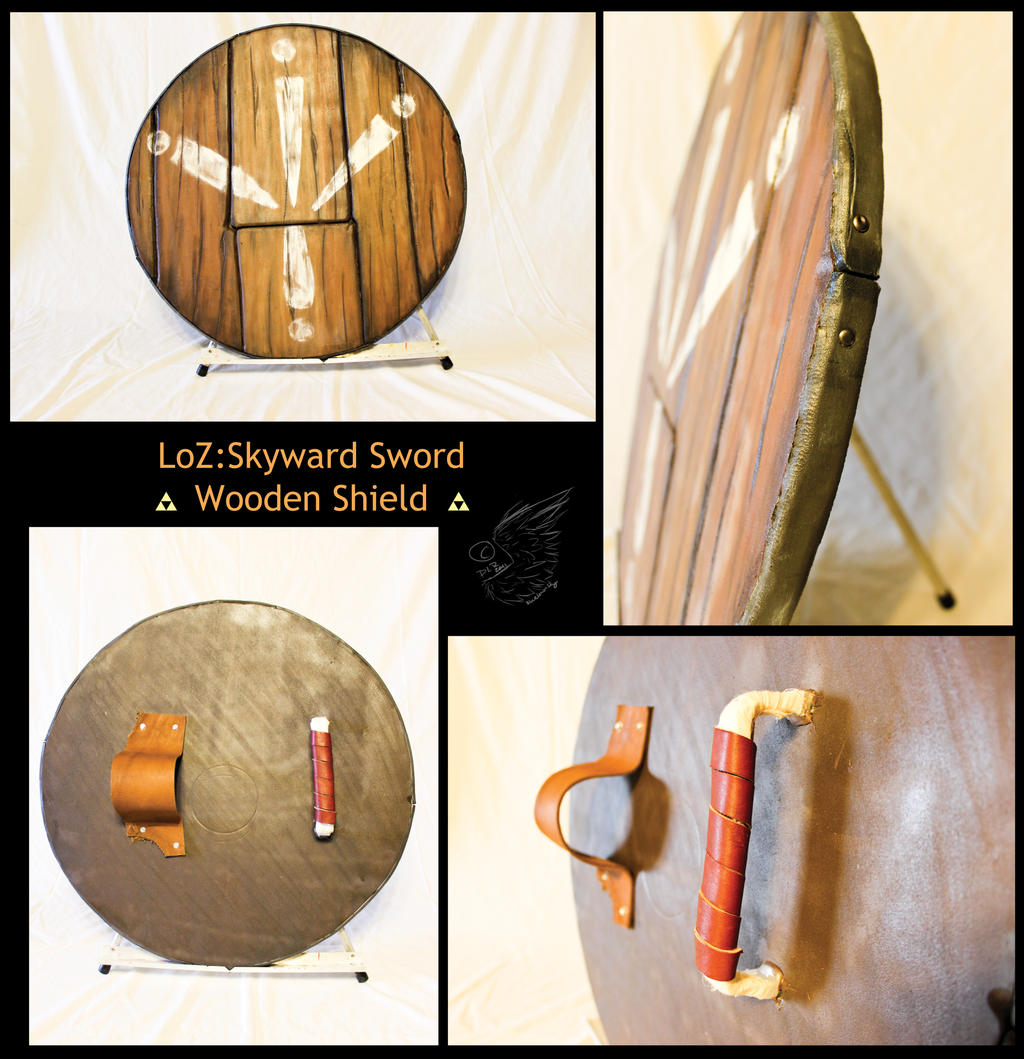 Legend of Zelda: Skyward Sword Wooden Shield by totalexistancefail