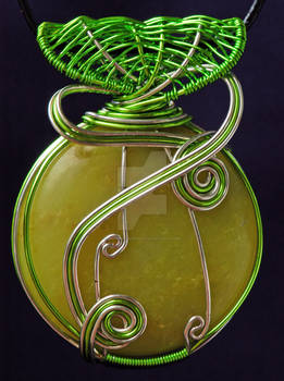 Green and Siver Pendant