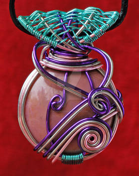 Round Rhodonite Pendant