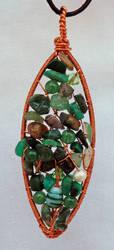 Mixed Green Weave Pendant