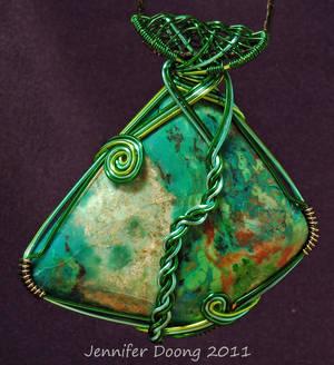 Shades of Chrysocolla Pendant