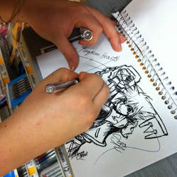 Doodling Sora in OfficeMax by Nuitari-winter-night