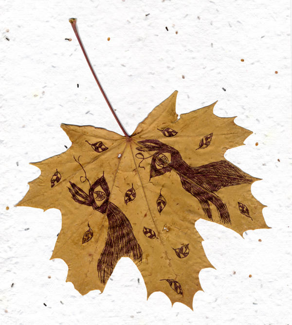 Shadow Creatures on a Leaf by kaikaku