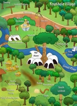 Map of Knothole -- SatAM Sonic
