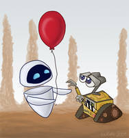 WALL-E EVE Balloon by kaikaku