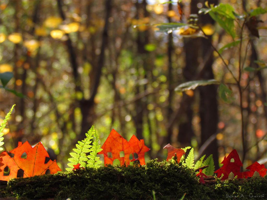 Little Village in the Forest by kaikaku