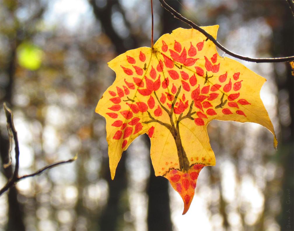 Autumn Leaf Tree by kaikaku