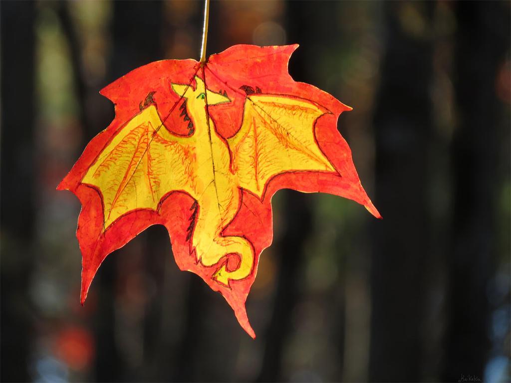 Crimson Dragon Leaf by kaikaku
