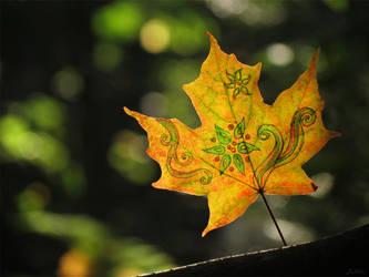 Leaf swirls and blooms