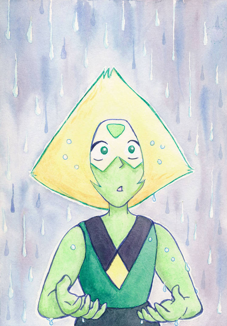 I always loved this scene from Steven Universe. Obviously the turning point in Peridot's character arc started a little before this, but it still was a very poignant moment. So I did a lil painting...