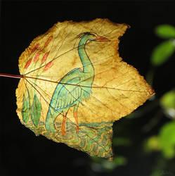 Great Blue Heron Leaf