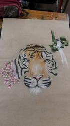 Color pencil Tiger! ^_^ by AllSeeingEyesOfGod