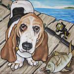 Fishing Basset Hound