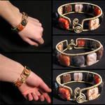 Agate square bracelet