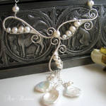 Stardust - bridal necklace II