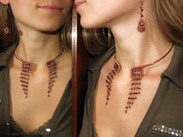 Nefertari necklace - modelling by Astukee