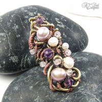 Purple Coctail Ring by Astukee