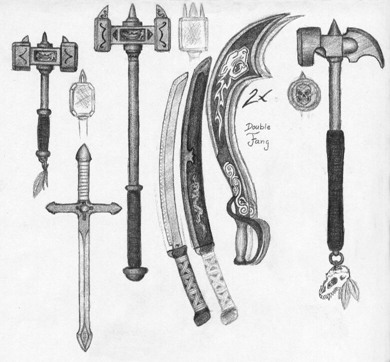 Another bunch of weapons by MikeSinner