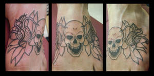 Skull and Flower Foot Piece
