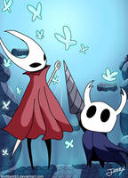 Hornet and the knight (Hollow knight Fanart)