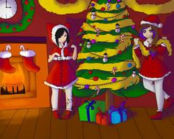 Navidad Chazz y Coco-collab by Cocoarcoiris