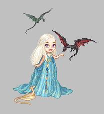 Pixel Daenerys by Blumina