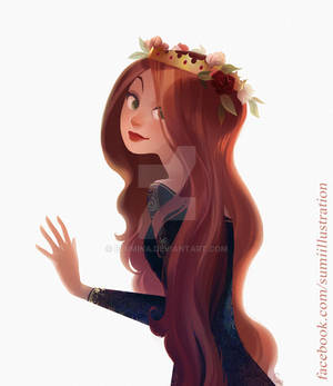 Red Hair and Roses
