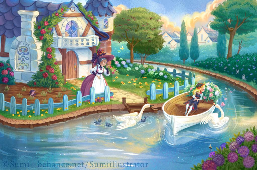 The Snow Queen - Gerda's boat by Blumina