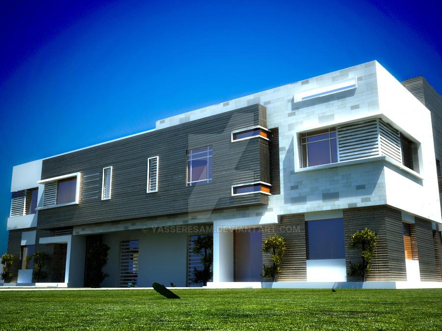 villa exterior by yasseresam