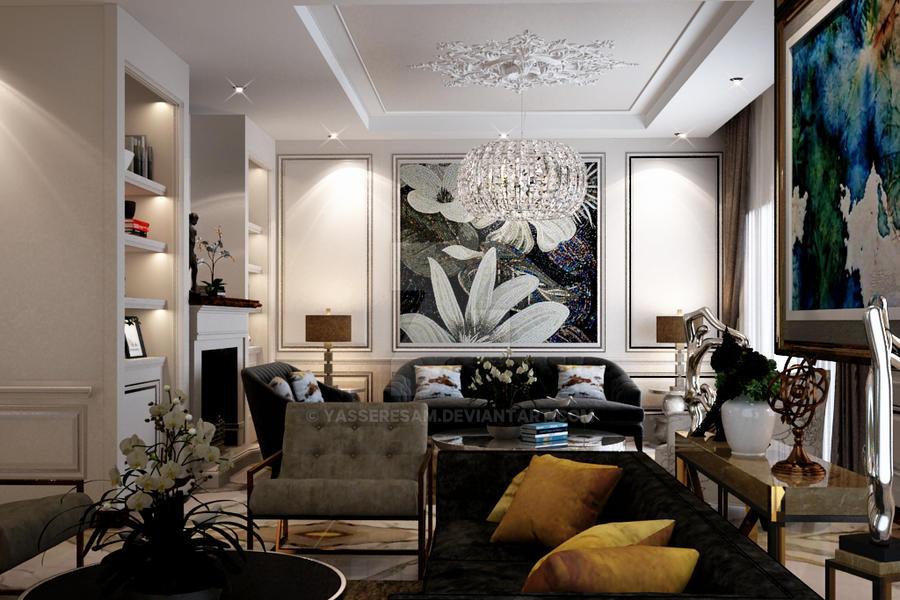 Reception Interior design by yasseresam