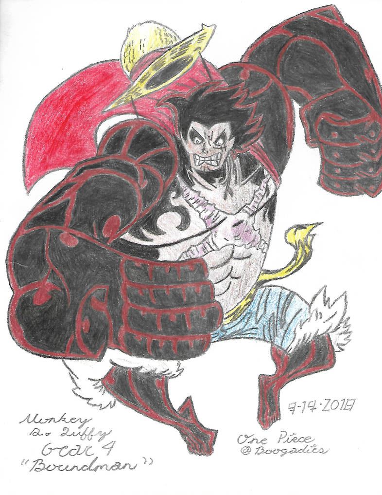Monkey D Luffy In Gear 4 From One Piece By Boogadies On Deviantart