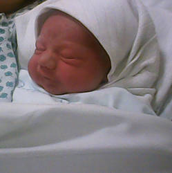 My second son Mathew was just born