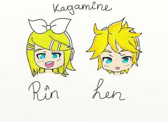 Kagamine Rin and Len by Vani11aSky