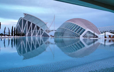 City of Arts and Sciences by geometricphotos
