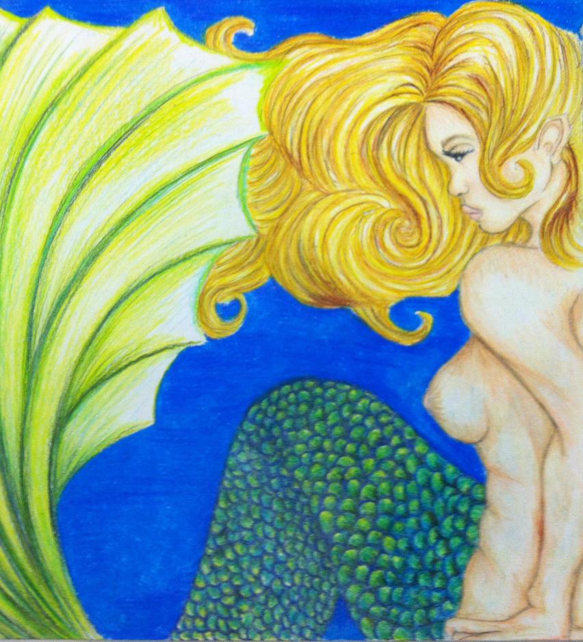 a mermaid by loveroffae