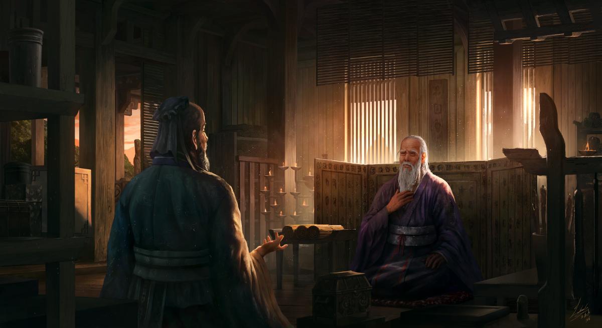 Confucius meets LaoTzu by lathander1987