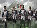 Advancing line infantries