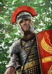 A Legionary in the forest