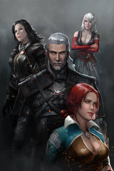 A Witcher and Three Sorceresses