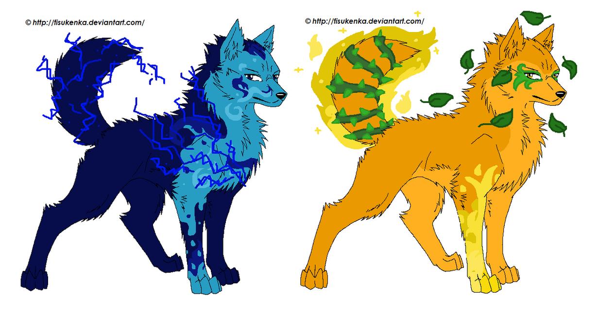 Earth elemental wolf