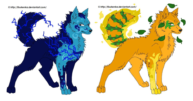 5 Element Wolves By Lbdlbdlbd9 On Deviantart - Wallpaperzen org