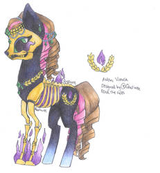 Skelly Pony Adoptable: Ardens Victoria by Quillnote