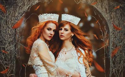 Sisters of Fire by KittiraCatinka