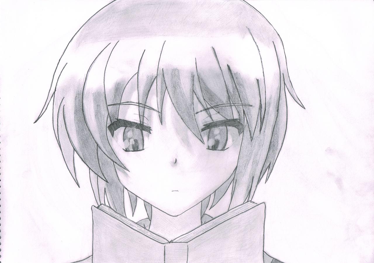 Nagato Yuki Pencil Sketch By WebbyMoto
