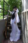 Steampunk Bride + Staircase 5
